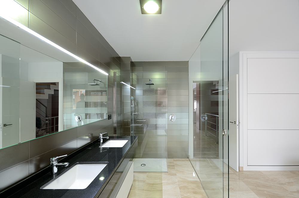 decoracin de baos modernos abiertos a dormitorio - Aseos Modernos